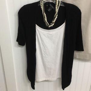 3/$30 like new black open wrap cardigan